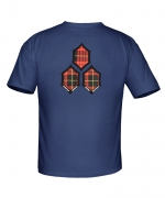 Mens Taylor Knox Tartan Hex Slim Fit Tee