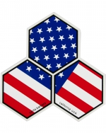 Old Glory Large Hex 5 Pack